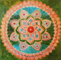 Mandala Paintings - Mandala by Agnieszka Szalabska