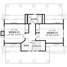 Craftsman Style House Plan - 3 Beds 2.5 Baths 1505 Sq/Ft Plan #456-5