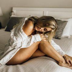 Husband's shirt boudoir. In-home boudoir ideas.     #Regram via @Bq_eCUkl7i6 Boudoir Photography Poses, Boudoir Poses, Pensacola Florida, How To Pose, Marathon, What To Wear, Babe, Outfit Ideas, Husband