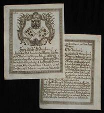 c1790 Wappen Herzöge von Mantova und Parma Großherzogtum Toskana Toscana Kupfer
