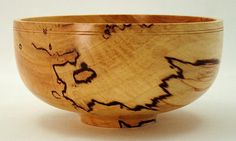 1227 spalted maple usa wood bowl wooden bowl by EccentricOldGuy