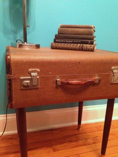 Repurposed Vintage Suitcase Side Table by VerucasVintage on Etsy, $125.00