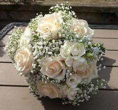 roses, freesias and gypsophila - Helen Jane Floristry