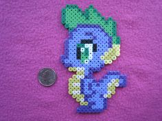 Spike the Dragon My Little Pony Perler Bead Sprite from Geek Mythology ...