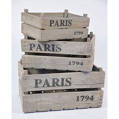 Paris cajones rusticos