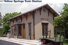 Restructured Train Station along the Little Miami Scenic Bike Trail that runs through Yellow Springs, Ohio Miami State, Ashtabula County, Bike Trails, Biking, The Buckeye State, Yellow Springs, Covered Bridges, Train Station, Day Trips