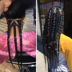 Love these #boxbraids by Chicago Braider @braid.boss So neat @voiceofhair #voiceofhair voiceofhair.com