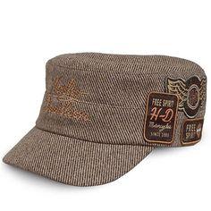 Harley Davidson Frayed bar /& Shield Logo B/&S Baseball Cap 99414-16vm