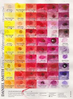 Jane Blundell: Daniel Smith 'try it' dot cards for watercolour