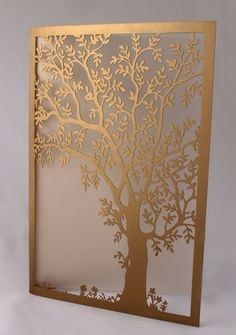 Make your wedding invites stand out with some creative laser cut card. Laser Cut Panels, Laser Cut Metal, Paper Art, Paper Crafts, Laser Cutter Projects, Cut Canvas, Metal Screen, Scroll Saw Patterns, Wooden Art