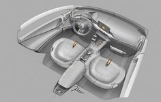 Kia Niro Concept - Interior Design Sketch