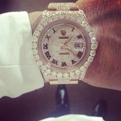 Customized Diamond Rolex Day Date II 2 President Rose Gold 30 Carats of F  Color VS2 2e7a25b76c