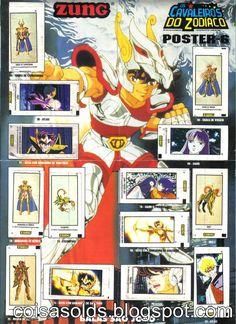 Figurinhas Cavaleiros do Zodíaco (Zung, 1995).