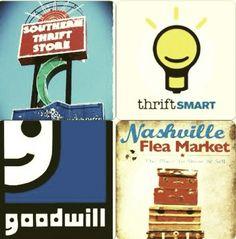 guide to thrift shops & flea markets in Nashvile.