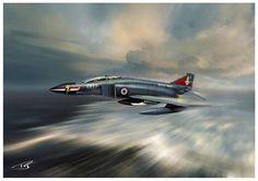 Phantom FG1 892 NAS Aviation Theme, Aviation Art, Navy Aircraft, Military Aircraft, Military Art, Military History, Hms Ark Royal, F4 Phantom, F 16