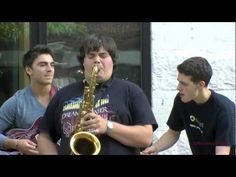 Berklee School Music Students Perform Outside. Way too much fun to listen to!