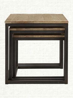 """Palmer 24"""" Nesting End Table Set in Bali Brown"""