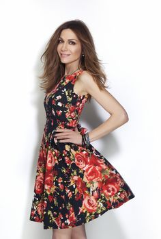 Floral dress  Despina Vandi for Chip and Chip Attica Golden Hall ,Thessaloniki Cosmos Mall