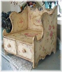 Vintage French Court Box  This would be great on a larger scale as a bench.