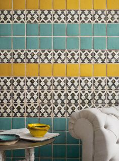 Marrakech Turquoise, Honey and Targa tiles www.firedearth.com/tiles/range/marrakech/mode/grid