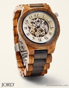 Dover Zebrawood & Dark Sandalwood – Mechanical Wood Watch by JORD Tailor made or tailored to fit, your moves are … Wooden Watches For Men, Skeleton Watches, Swiss Army Watches, Michael Kors, Cool Watches, Women's Watches, Cheap Watches, Watches Online, Diamond Watches