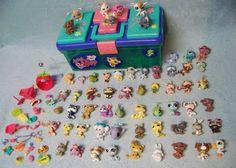 Littlest Pet Shop LPS 60 Animals Storage Case Accessories Lot  #Hasbro