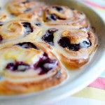 Blueberry Lemon Sweet Rolls (just like cinnamon except lemon sugar and blueberries rolled inside instead of cinnamon sugar)-PW