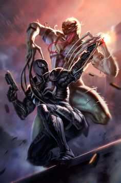 Agent Venom & Anti-Venom - Dleoblack
