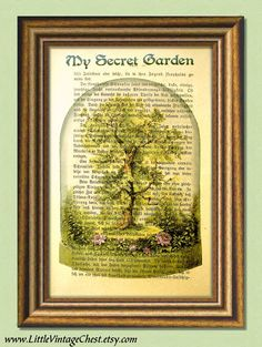 Organic Gardening How To Key: 4048842436 Dictionary Art, Paper Book, Secret Places, My Secret Garden, Ber, Butterfly Print, Antique Books, Botanical Prints, Garden Art