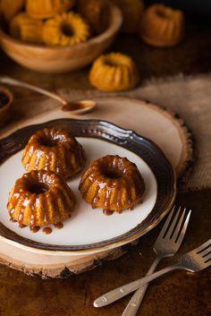 Browned Butter Caramel Pumpkin Spice Mini Bundt Cakes - The Kitchen McCabe