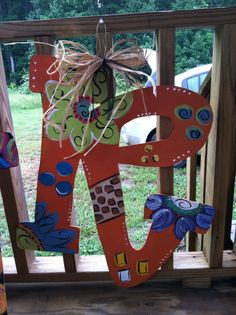 24 Initial Wooden Door Hanger by PureSouthernBliss on Etsy, $45.00
