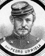 Pedro Urriola, Teniente del Regimiento Chacabuco, participa y muere en la Batalla de Tarapacá. Fuente: Boletín de la Guerra del Pacífico 1879-1881, Pág. 483