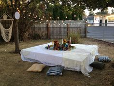 The final product: Boho Bridal Shower / Dinner Table / Hammock / Boutique Weddings & Events by Alicia with @meyerhollie