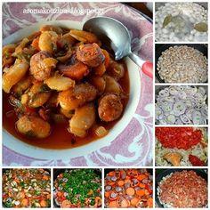 Άρωμα Κουζίνας: Γίγαντες στιφάδο με λουκάνικα στο φούρνο