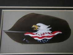 Eagle hand Painted on Feather by FransFeathers on Etsy, $20.00
