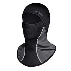 Rockbros Winter Cycling Cap Windproof Thermal Face Mask Balaclava Bandana Sport Ski Running Bike Bicycle Neck Hat Head Scarf Men