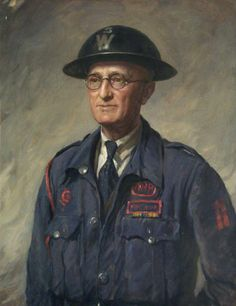Portrait of an Air Raid Precaution Warden by Sydney Percy Kendrick, Date painted: 1942