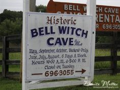 The Bell Witch Cave is located in Adams, Tennessee, and it's one of the most terrifying places to explore in the state if you like a good ghost story. Real Haunted Houses, Haunted Hotel, Haunted Towns, Most Haunted Places, Spooky Places, Haunted Places In California, Bell Witch, Places In America, Ghost Tour