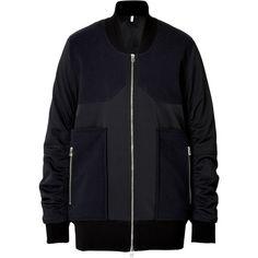 Faith Connexion Bomber Jacket (€235) ❤ liked on Polyvore featuring outerwear, jackets, blue, bomber jacket, blue bomber jacket, faith connexion, flight bomber jacket and blouson jacket