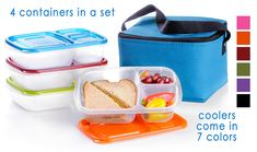 The best lunch boxes for school or work! The complete EasyLunchbox System is $21.90. Free shipping on Amazon: amzn.to/BuyLunch (some restrictions apply)