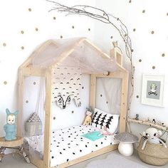 Kids Room Decoration and Playground Design - Kinderzimmer Baby Bedroom, Girls Bedroom, Bedroom Decor, Bedroom Ideas, Master Bedroom, Scandinavian Kids Rooms, Scandinavian Style, Kids Room Design, House Beds