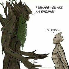 I am Groot. Perhaps he is a descendant of Treebeard