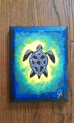Psychedelic Turtle Painting by Jane Humber