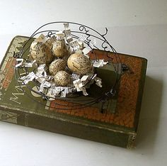 A+NEST+OF+A+BOOK++++Original+Mixed+Media+by+GatheredTogether