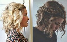 """43 Stylish Braided Short Hairstyles Ideas Match For Fall Season Short hairstyles, like most styles, come in and out of fashion regularly, but they usually spend more time \""""in\"""" […] Bob Hairstyles, Braided Hairstyles, Wedding Hairstyles, Braids For Short Hair, Short Hair Cuts, Mi Long, Bridesmaid Hair, Hair Dos, Hair Hacks"""