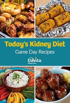 Game Day Recipes by Davita - Davita Recipes, Kidney Recipes, Diet Recipes, Healthy Recipes, Game Recipes, Kidney Foods, Kidney Beans, Low Potassium Recipes, Low Sodium Recipes