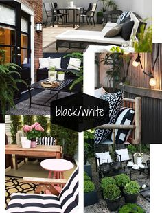 more black and white patio ideas...so chic!