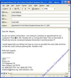 format to write an email professional business email format