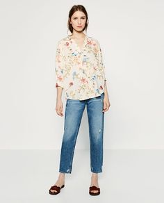 ZARA - WOMAN - PRINTED LINEN BLOUSE