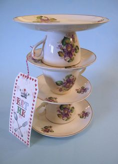 Handmade vintage china cake stand.  Cakes By Jacques - Beautiful Bespoke Cakes, Biscuits and Cupcakes: Alice in Wonderland Party!